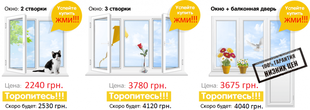 Разновидности окон в Одессе