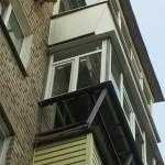 т-образная боковая часть балкона