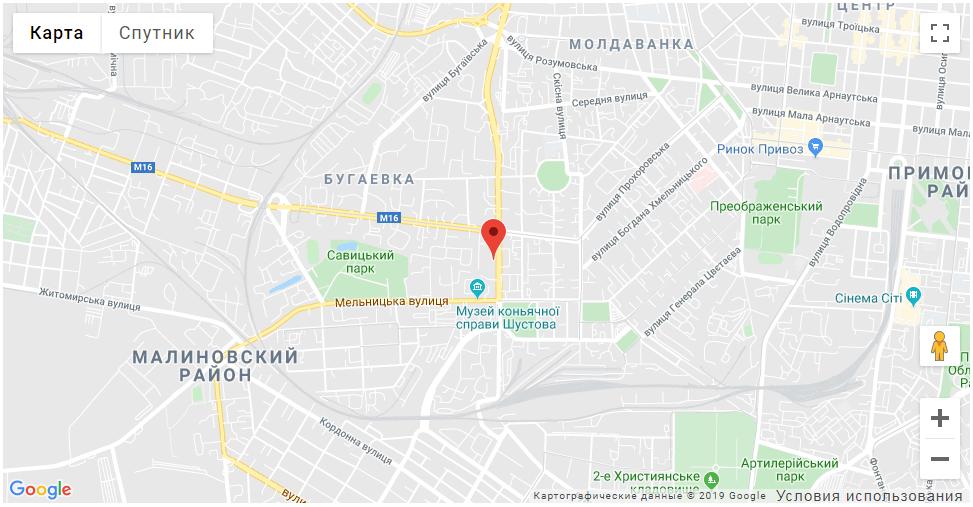 Адрес на карте компании Алиас-Одесса25