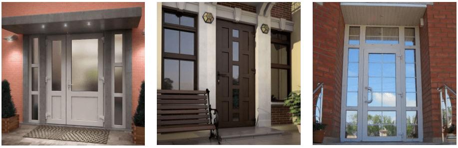 Металлопластиковые двери ПВХ